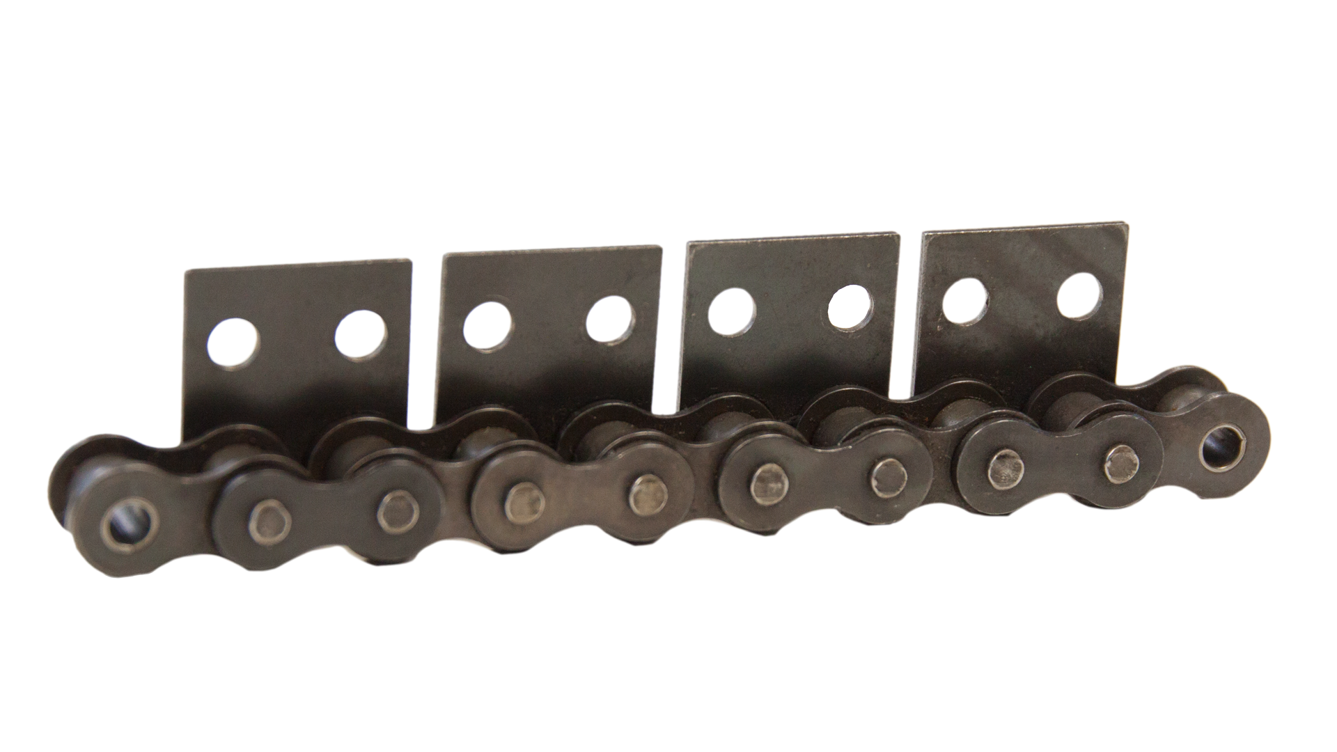 Einfach-Rollenkette (Simplex), mit einseitigen Flachlaschen