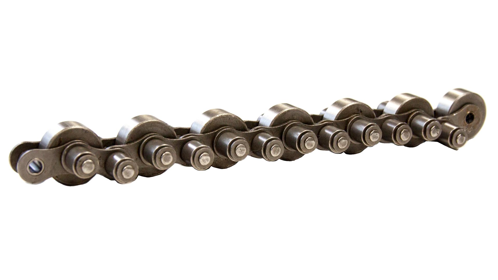 Stauförderkette, mit Stahlrolle